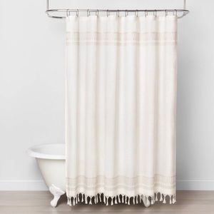 Hearth & Hand Embroidery Stripe Shower Curtain